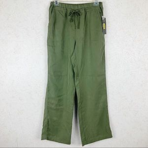 Multiples olive green drawstring pants